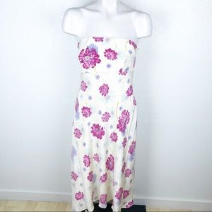 Shoshanna floral strapless silk dress size 12. 191